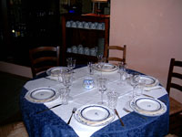 Il Vicariato: particolare sala pranzo